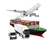 World Wide Cargo Transport Illustration - 74885079