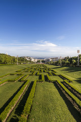View of the park Eduardo vii located in Lisbon, Portugal.