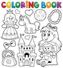 Coloring book with toys thematics 1