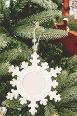 Christmas tree ornament red