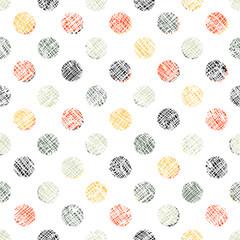 Seamless Polka Dot Pattern Textured