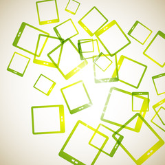 abstract background: tablet