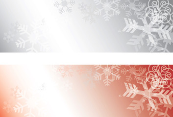 Grunge Snowflakes background banners