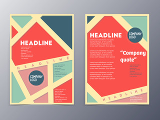 retro color table style flyer template
