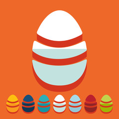 Flat design: easter egg
