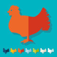 Flat design: chicken