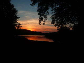 Sonnenuntergang Talsperre Pöhl