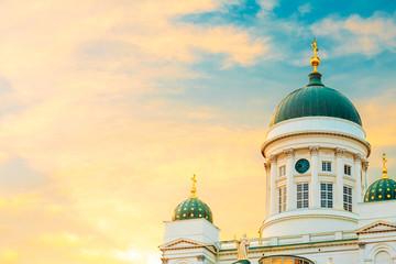 Helsinki Cathedral, Helsinki, Finland. Summer Sunset Evening