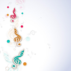 Concept of musical notes.