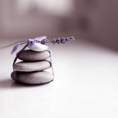 Zen stones and lavender