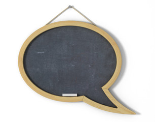 Speech bubble school desk