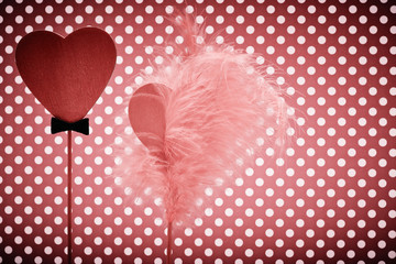 Valentines Day. Hearts Couple. Retro Styled. Love concept.
