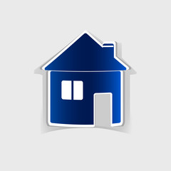 realistic design element: house icon