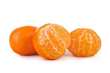 mandarin fruit isolated on white background