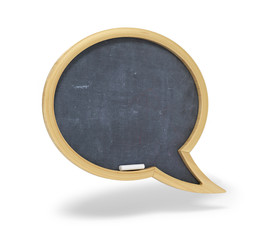 Speech bubble school wooden desk.