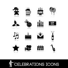 Celebration and party icons set 2