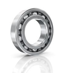 Steel ball bearing. Illustration on white background.