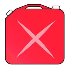 赤い色のポリ缶