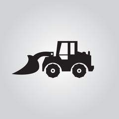 Motorgrader show logo , vector  Illustrations