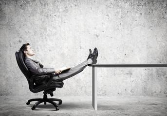 Businessman in chair