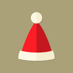 Christmas Santa Claus Hat Flat Icon