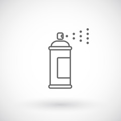 Spray paint outline icon