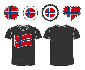 t-shirt with the flag of Norway