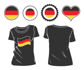 t-shirt with the flag of Germany