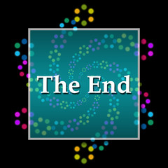 The End Black Colorful Elements Square