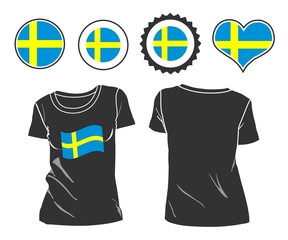 t-shirt with the flag of Sweden