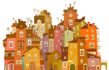 Bright urban facades