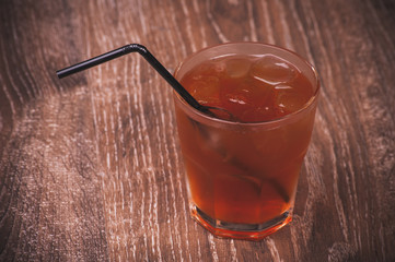 cold ice tea in glass