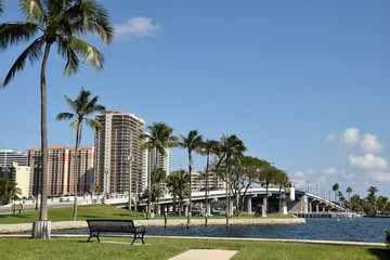 Waterway and bridge in Fort Lauderdale Florida