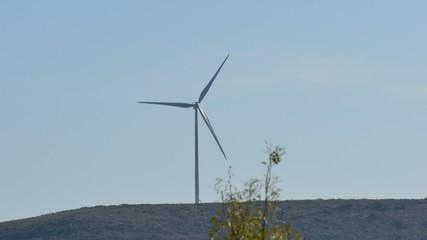 Texas wind farm turbines