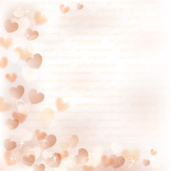 Background with beige hearts