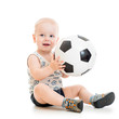 child boy with foot ball
