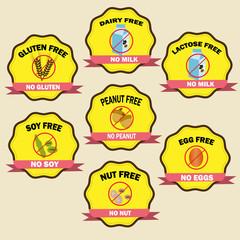 food allergy badges