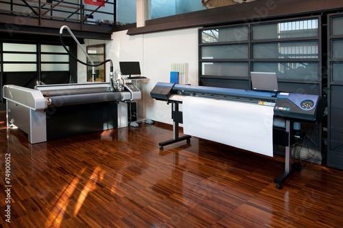 Leinwanddruck Bild Digital printing - wide format printer