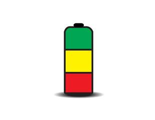 battery vector logo design template