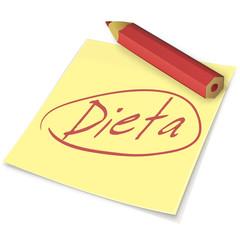 Etiqueta dieta