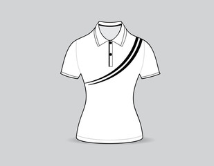 polo shirt outline on white background