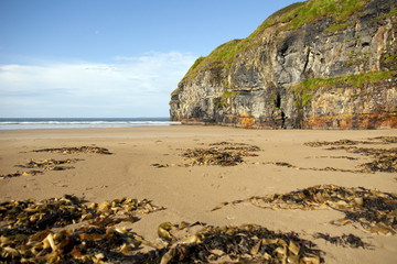 rocky cliffs of Ballybunion on the wild atlantic way