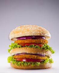 double tavuk burger