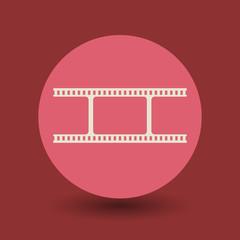 Blank film symbol, vector