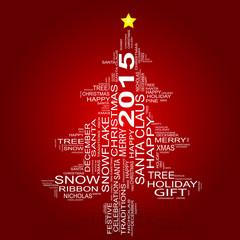 Conceptual Christmas holiday word cloud