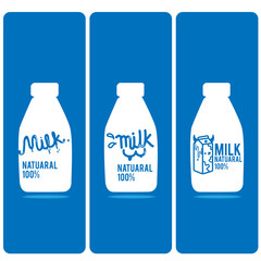 milk bottle logo cartoon