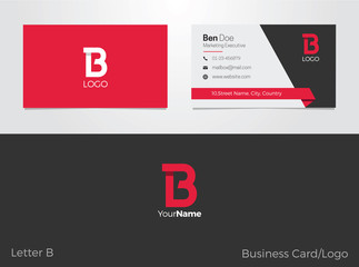 B Letter Logo Business card