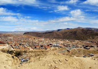 Potosi, Bolivie, Tilt Shift