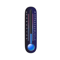 Thermometer on a white background