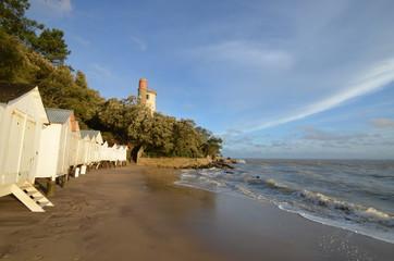 mer haute sur la plage de Noirmoutier